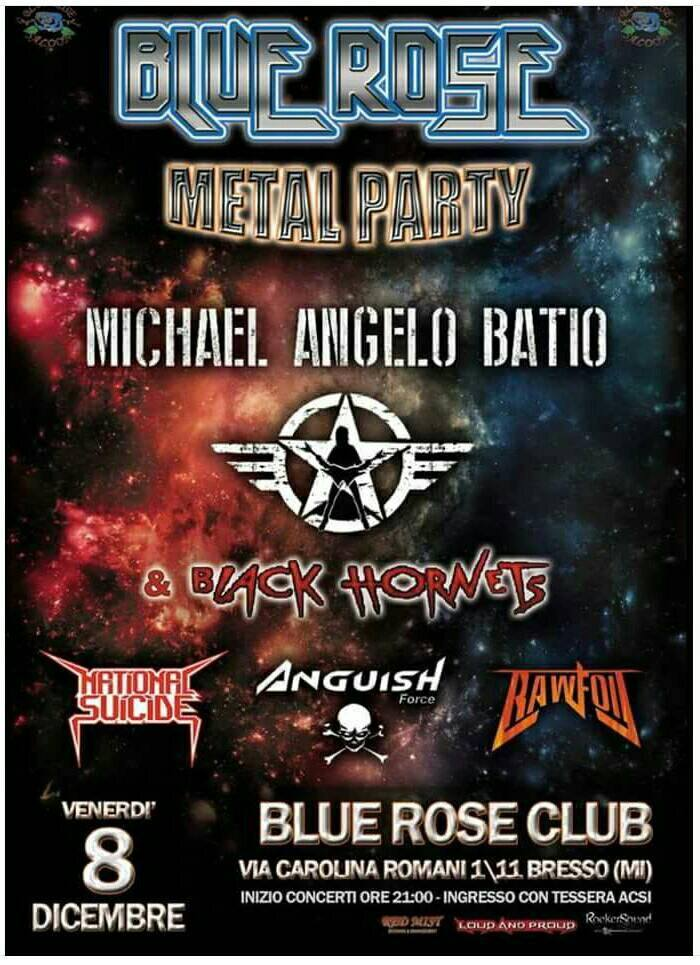 On stage with Michael Angelo Batio